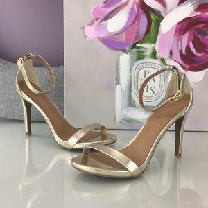 Candies gold open toe heels